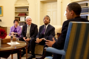 newt ginrich, al sharpton, valerie jarret and obama
