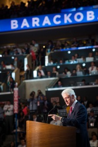 Clinton at DNC 2012-mandatory courtesy Johannes Worsøe Berg