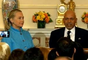 Hillary Clinton and Libyan Amb. Ali Suleiman Aujali