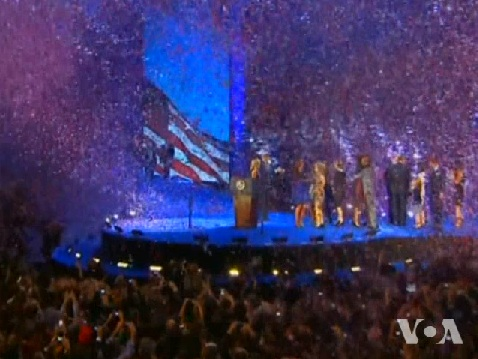 From VOA - Obama Victory Celebration, Chicago 11-7-2012