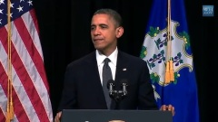 President Obama addresses prayer vigil in Newtown, Connecticut, Sunday, December 16, 2012. (From Whitehouse.gov video)