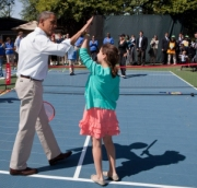 Winners! See what happens when you give the president a shot he can handle?(Photo credit: whitehouse.gov)