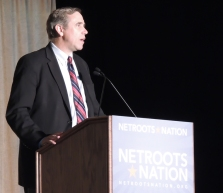 Sen. Jeff Merkley speaks at Netroots