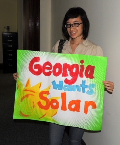 solar protester