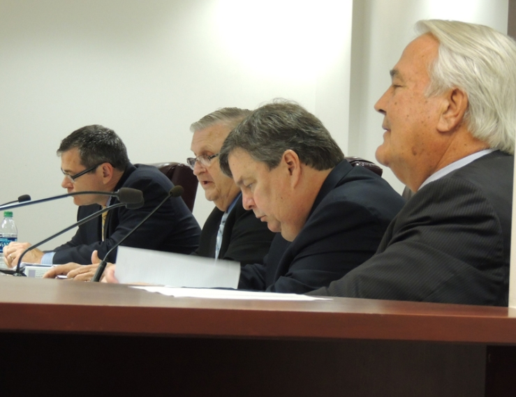 Side view of Georgia PSC commissioners