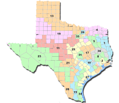 Texas 2011 Redistricting map