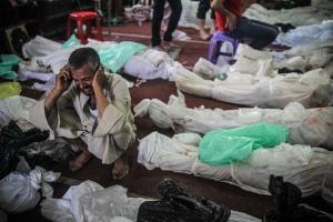 Egyptian families mourn slain relatives