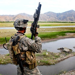 US Soldier in Afghanistan