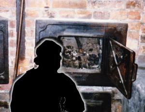 Auschwitz oven door